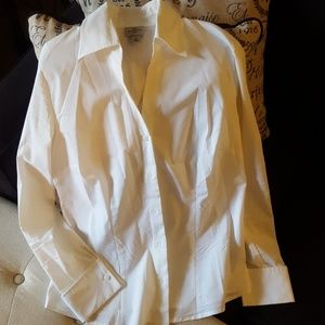 Worthington stretch tailored fitted shirt